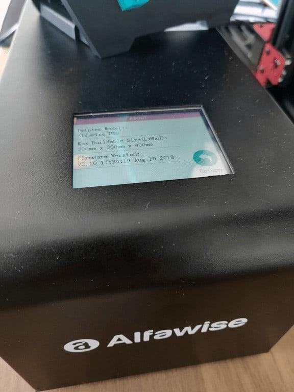 Alfawise U20 power unit touchscreen