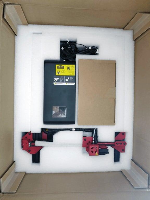 Alfawise U20 second layer in box
