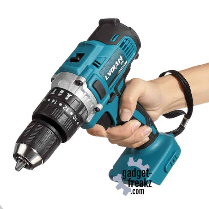 Makita (lvdian) 18v compatible 3-in-1 drill top side view