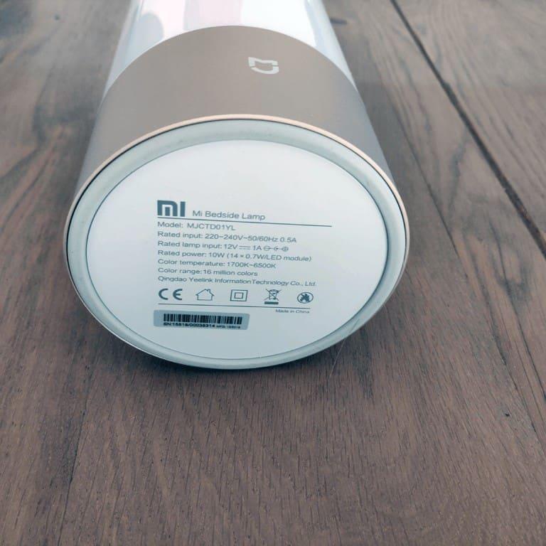 Xiaomi Mijia MJCTD01YL Yeelight Bedside Lamp bottom