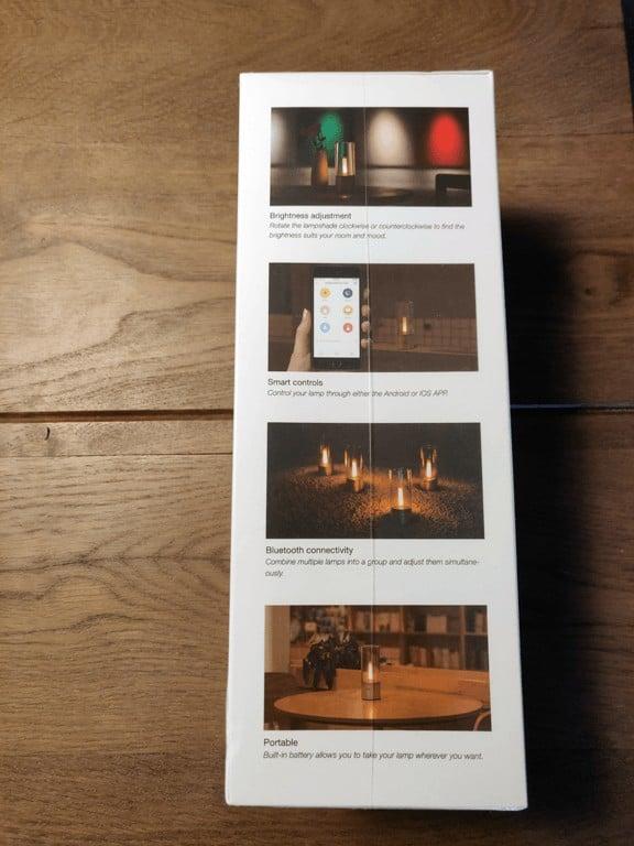 Xiaomi Yeelight Candela box side