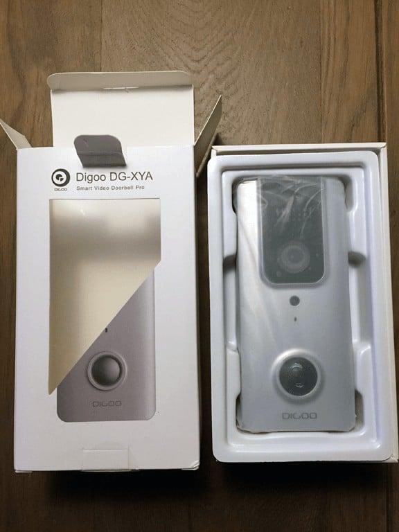 digoo dg-xya video doorbell in box