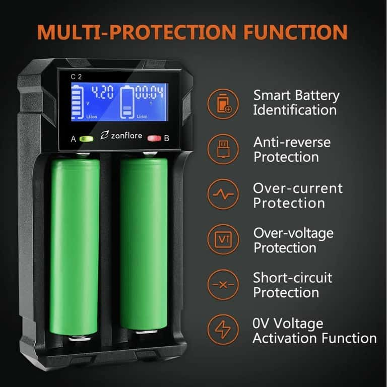 zanflare battery charger specifications