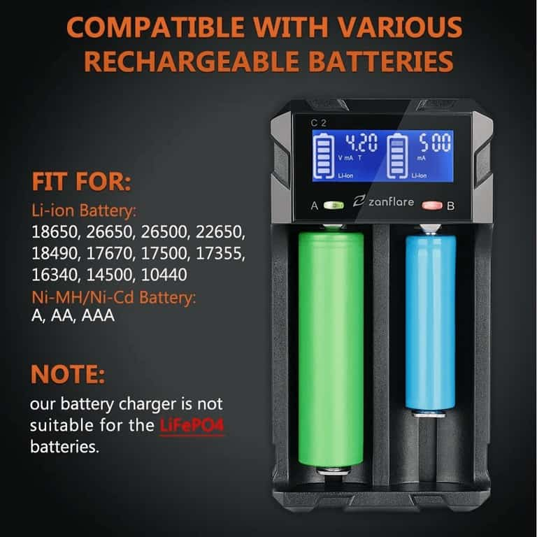 zanflare zanflare battery charger compatible