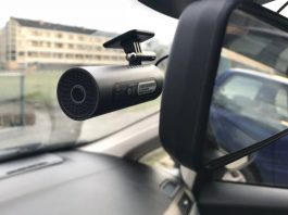 the dash cam installed in my car