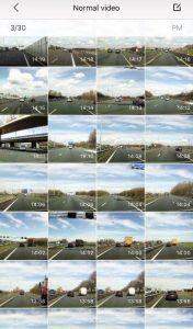 70mai Smart car Dash DVR App for iOS - recorded videos