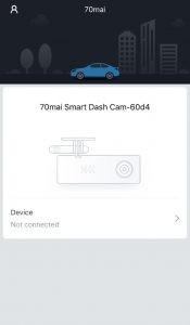 70mai Smart car Dash DVR App for iOS