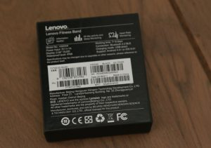 Lenovo Cardio Plus HX03W Smartband - Back of Box