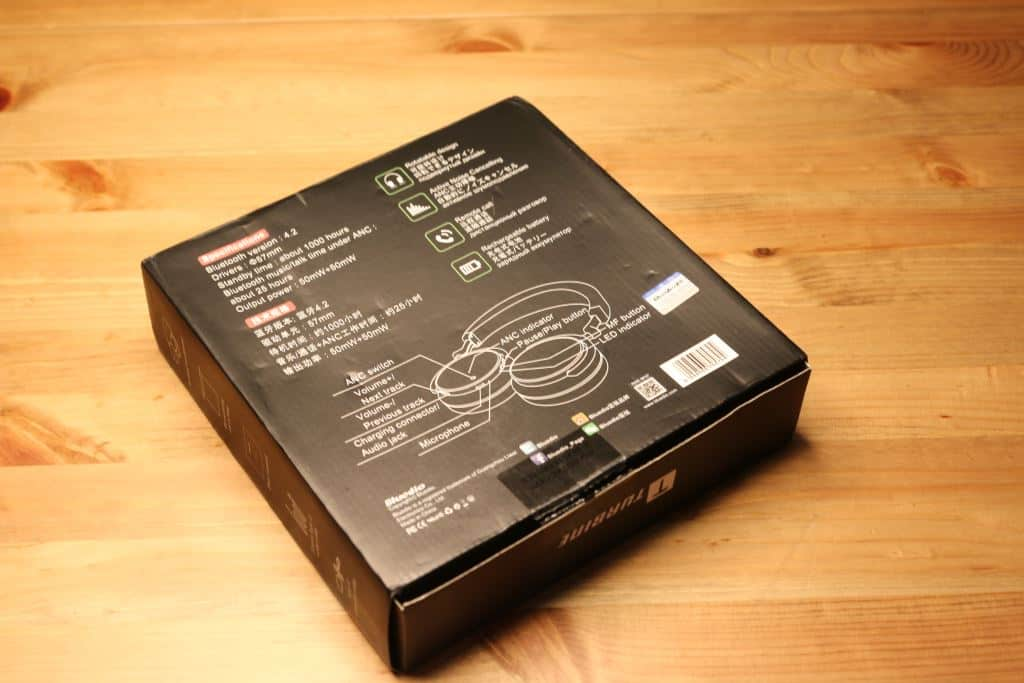 Bluedio T5 box back