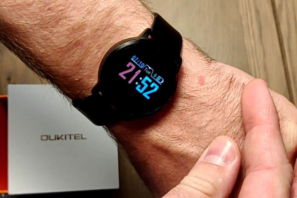 Oukitel W1 Smart Watch on wrist