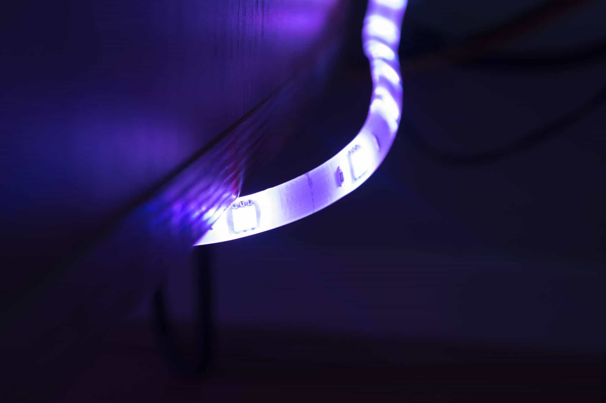 Yeelight lightstrip purple
