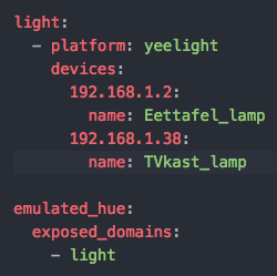 Home-Assistant Yeelight platform