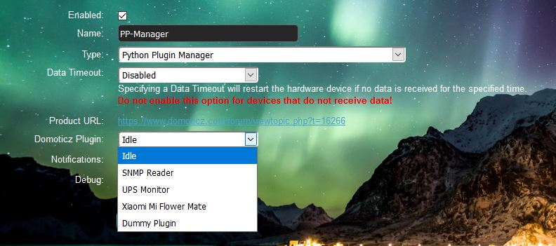 Domoticz Python Plugin manager