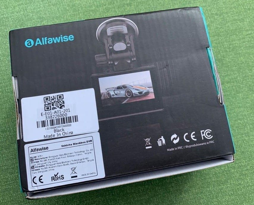 Alfawise G60 Back of Box