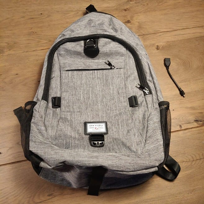 Canvas Backpack Front