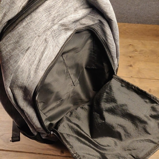 Canvas Backpack Second Compartment