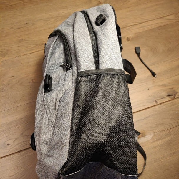 Canvas Backpack Side