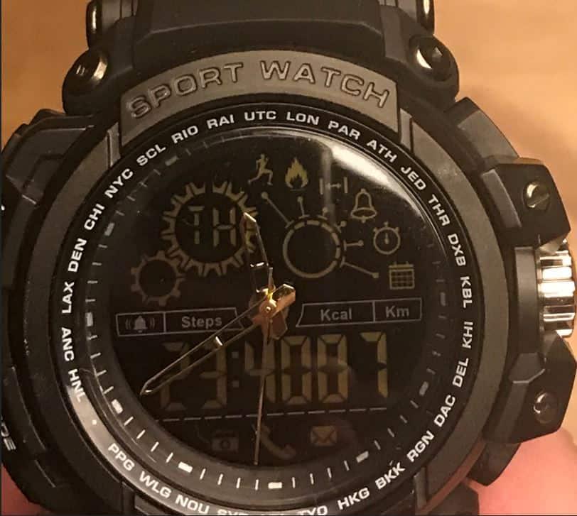 Diggro DI10 Smart Sport Watch Clock face