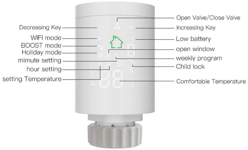 Moeshouse tuya zigbee3.0 smart radiator actuator programmable thermostatic radia