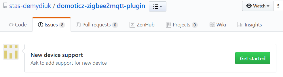 place an issue to get your (unsupported) device added in the plugin.