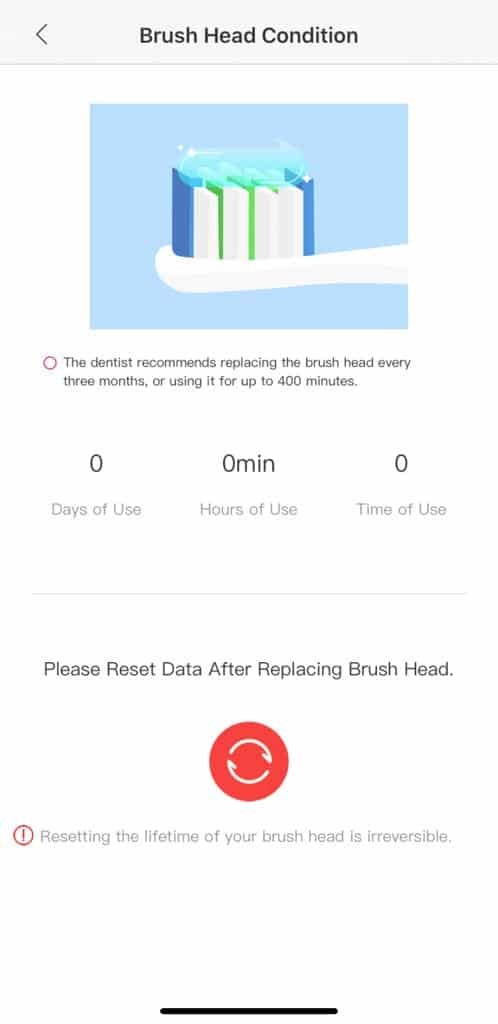 Oclean App Brush Head Condition