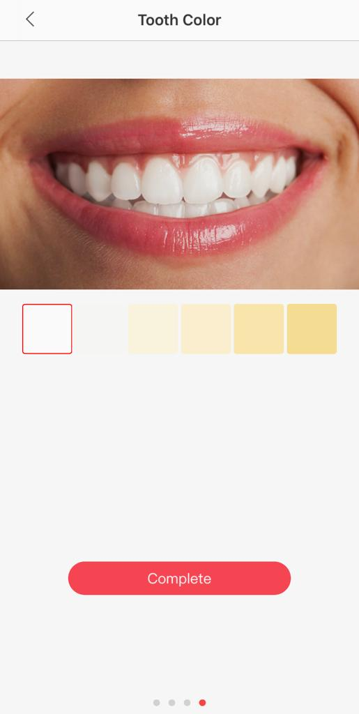 Oclean App Select Tooth Color