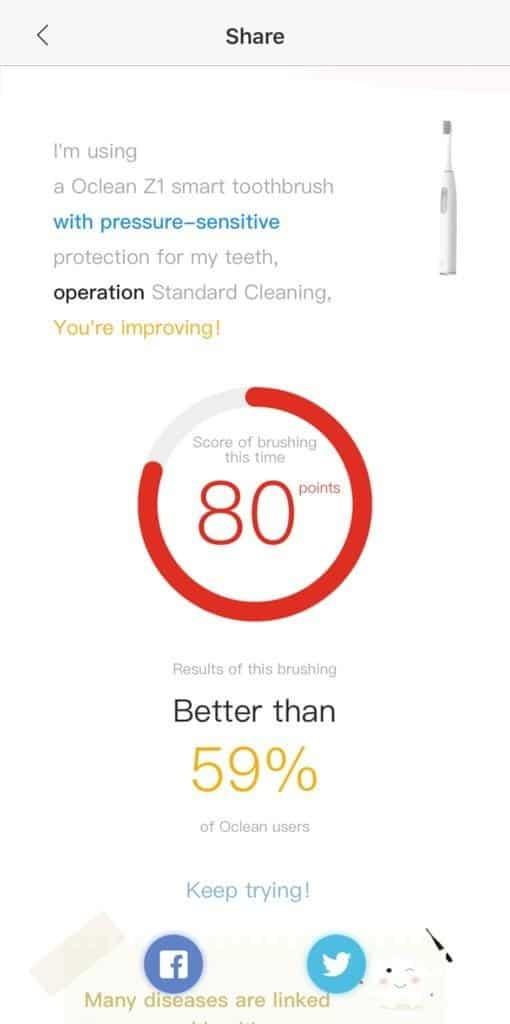 Oclean App Share Brush Report