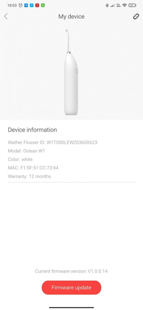 Oclean W1 paired no firmware