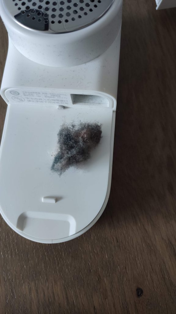Xiaomi Mijia lint remover after usage 2