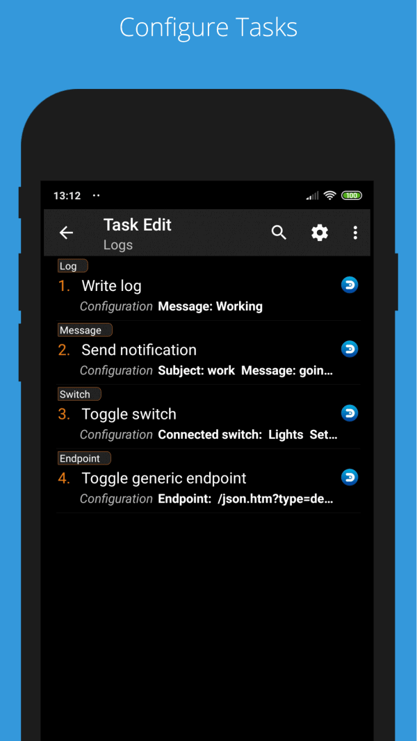 domoticz for tasker
