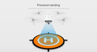 40cm (folding) landing pads. Orange color works the best with the Fimi X8 Se