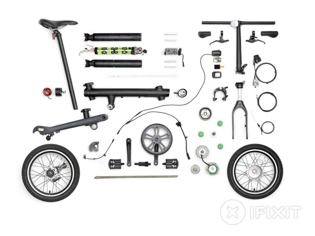 Parts of the QiCycle EF1 e-bike